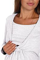 Собственное производство Блуза для беременных и кормящих кулирка с лайкрой 8.38 серый