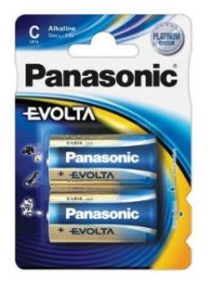 Батарейка щелочная PANASONIC Evolta C 2B (2 шт)