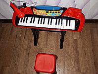 Детский синтезатор с микрофоном MY66313