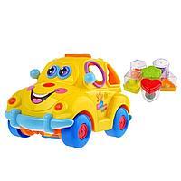 """Детская интерактивная развивающая игрушка каталка-сортер """"Автошка"""", PlaySmart Арт.9170"""