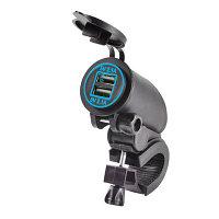 USB зарядное устройство для мотоциклов скутеров самокатов с подсветкой