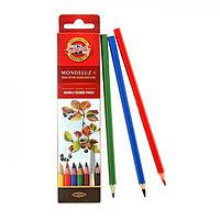 Карандаши художественные акварельные 6 цветов 3.8 мм, Koh-I-Noor Mondeluz, L=175 мм, в картоне