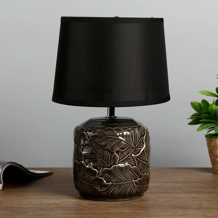 """Лампа настольная """"Листопад"""" Е14 1х40Вт черный 20х20х32,5 см"""