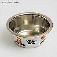 """УЦЕНКА!Миска стандартная """"Пижон. Yoga Dog"""", 450 мл"""