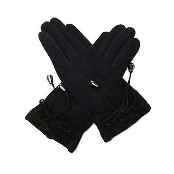 Перчатки женские, размер one size, цвет чёрный