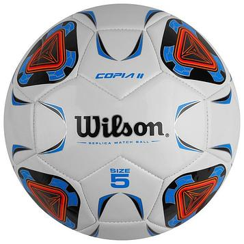 """Мяч футб. """"Wilson Copia II"""" арт.WTE9210XB05 р.5, 30п, гл.TPU, 1подкл. сл.,маш.сш.,бело-сине-"""