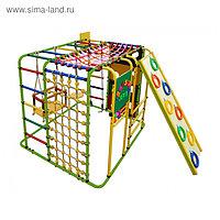 ДСК «Кубик У Плюс» напольный для дома и улицы, 1210 × 1210 × 1150 мм, цвет салатовый/радуга