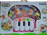 Коврик развивающий (пианино) Lorelli Toys розовый, фото 4
