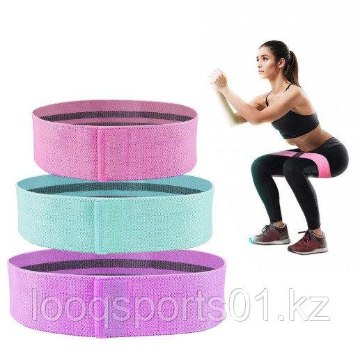 Премиум фитнес резинки (тряпочный, тканевые) 3шт ленточных эспандеров