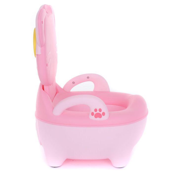 Детский горшок PITUSO КОТИК В ОЧКАХ Розовый PINK 32*27*39 см