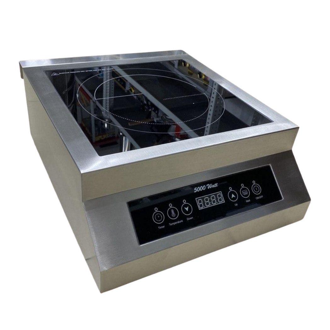 Плита индукционная электрическая настольная плоская, мощность 5000 Вт