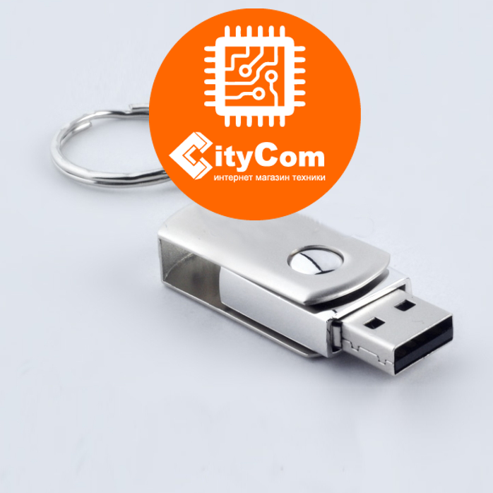 USB Флеш 16GB 2.0 Kingston металл брелок флешка Арт.2561
