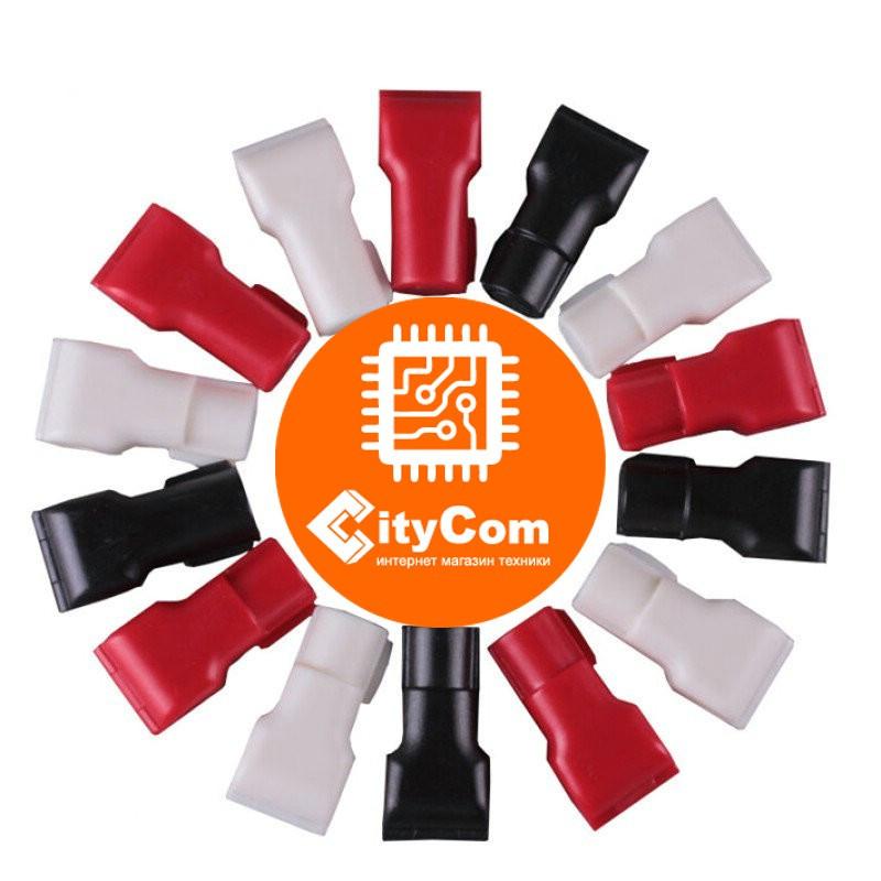 Антикражный датчик фиксатор для товаров на крючках Hook Stop Lock E-S4, D:4мм белый Арт.5992