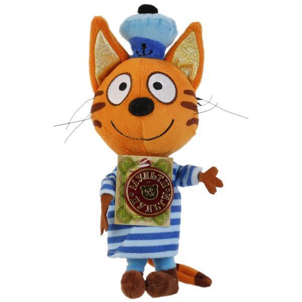 """Мульти-Пульти Мягкая игрушка """"Три кота"""" Кот Коржик (звук), 14 см."""