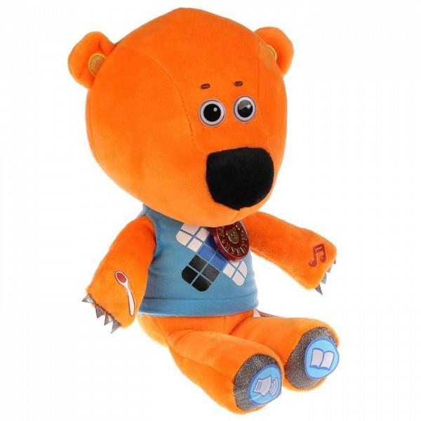 """Мульти-Пульти Мягкая игрушка """"Ми-Ми-Мишки"""" Медвежонок Кеша кушает с ложечки, 30 см."""