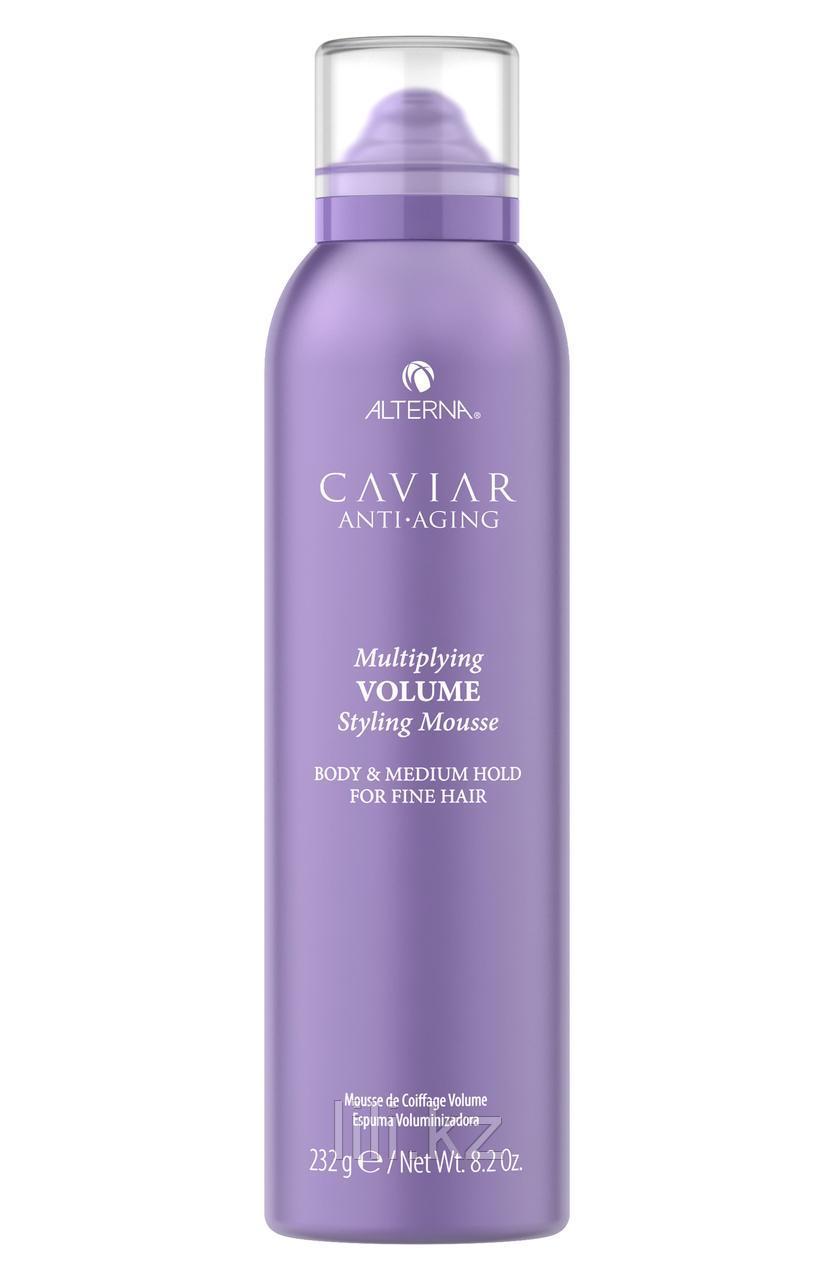 Мусс для придания объема и плотности с кератином Caviar Anti-Aging Multiplying Volume Styling Mousse 232 мл.