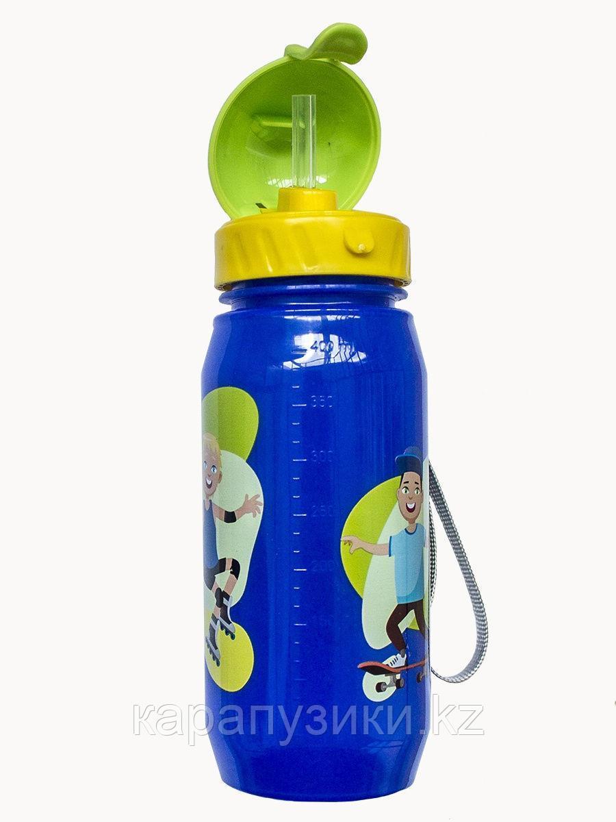 Детская бутылочка с трубочкой Активити