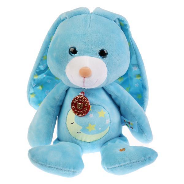 """Мульти-Пульти Мягкая игрушка-ночник """"Лунный Зайка"""" с колыбельными, 25 см"""