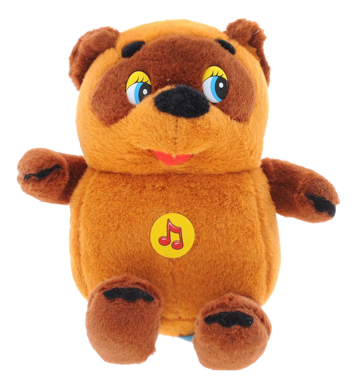 """Мульти-Пульти Мягкая игрушка """"Винни-Пух"""" Медвежонок Винни Пух (звук), 15 см."""
