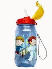 Детская бутылочка с трубочкой спорт