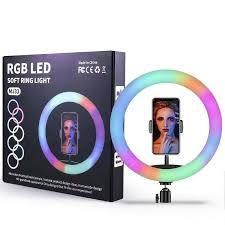Цветная кольцевая лампа MJ33 RGB LED SOFT RING LIGHT D=33 см