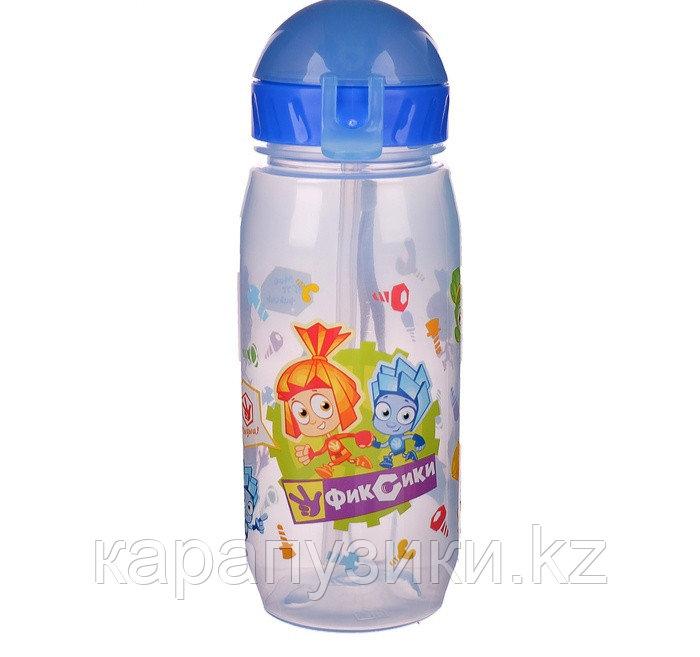 Детская бутылочка с трубочкой спорт Фиксики