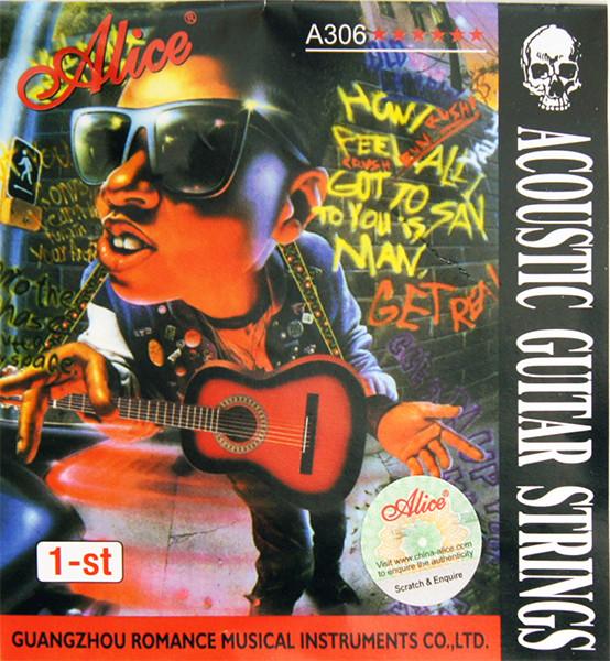 Отдельная 1-ая струна для акустической гитары, 010, Alice A306-XL-1