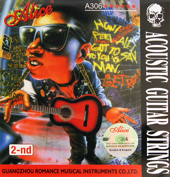 Отдельная 2-ая струна для акустической гитары, 014, Alice A306-XL-2