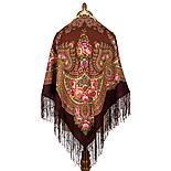Павлопосадский платок Пламень сердца 1786-8 (135х135 см), фото 3