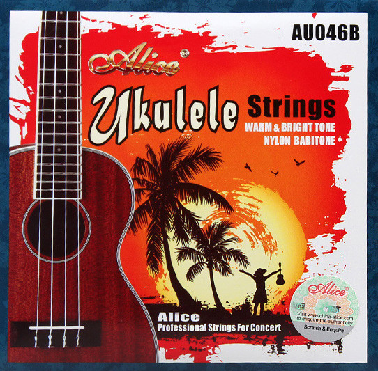 Комплект струн для укулеле баритон, Alice AU046-B