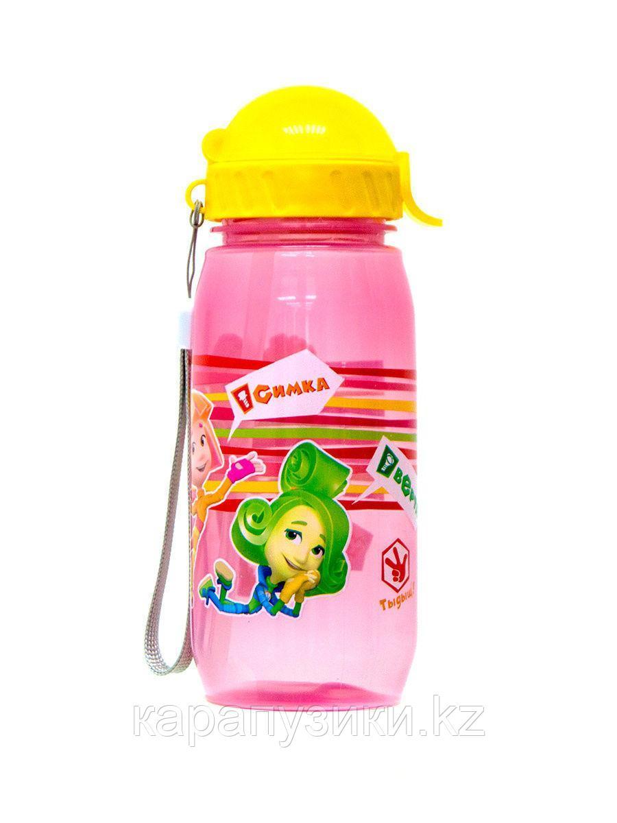 Детская бутылочка с трубочкой спорт Фиксики девочки