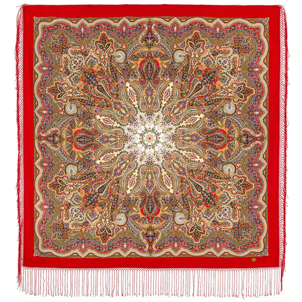 Павлопосадский платок Сказочница 1763-7 (135х135 см)