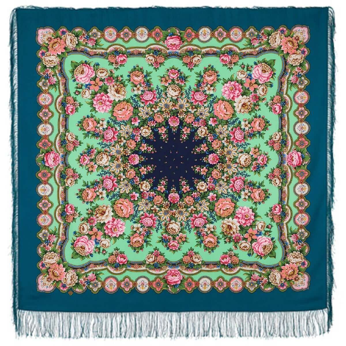 Павлопосадский платок Южное солнце 1652-4 (135х135 см)
