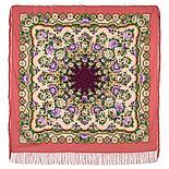 Павлопосадский платок Южное солнце 1652-4 (135х135 см), фото 4