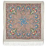 Павлопосадский платок Чародейка зима 1749-3 (135х135 см), фото 9