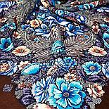 Павлопосадский платок Цветочная симфония 1120-7 (135х135 см), фото 5