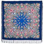 Павлопосадский платок Цветочная симфония 1120-7 (135х135 см), фото 6