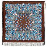 Павлопосадский платок Цветочная симфония 1120-7 (135х135 см), фото 3