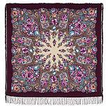 Павлопосадский платок Цветочная симфония 1120-7 (135х135 см), фото 8
