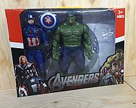Герои марвел 2 фигурки в коробке в коробке (Капитан Америка отремонтиован)
