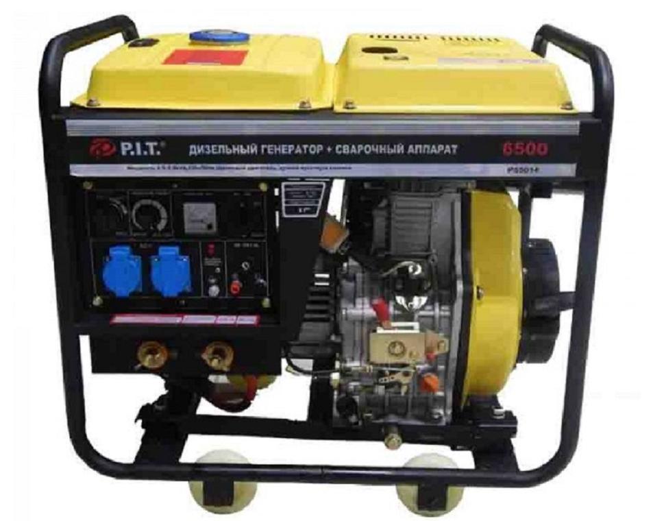 Дизельный генератор  P.IT.  5.0  кВт + Сварочный аппарат  190А