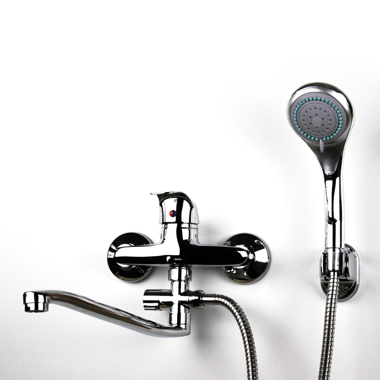 Смеситель для душа/ванны с длинным гусаком GLORIA GL212