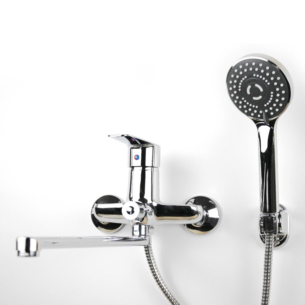 Смеситель для душа/ванны с длинным гусаком (34 см) GL357