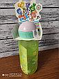 Детская бутылочка с трубочкой спорт Фиксики спорт, фото 5