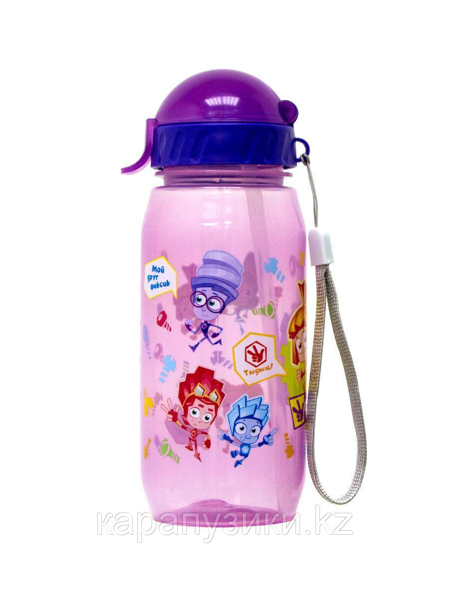 Детская бутылочка с трубочкой спорт Фиксики спорт