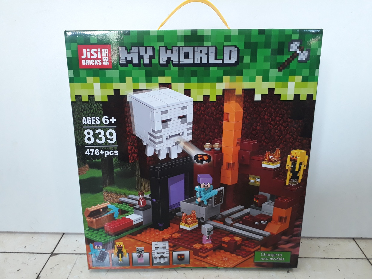 Конструктор Jisi Bricks My world 839 476 pcs. Minecraft. Майнкрафт