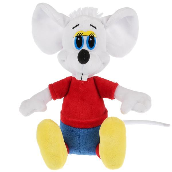 """Мульти-Пульти Мягкая игрушка """"Кот Леопольд"""" Белая мышь (звук), 20 см"""