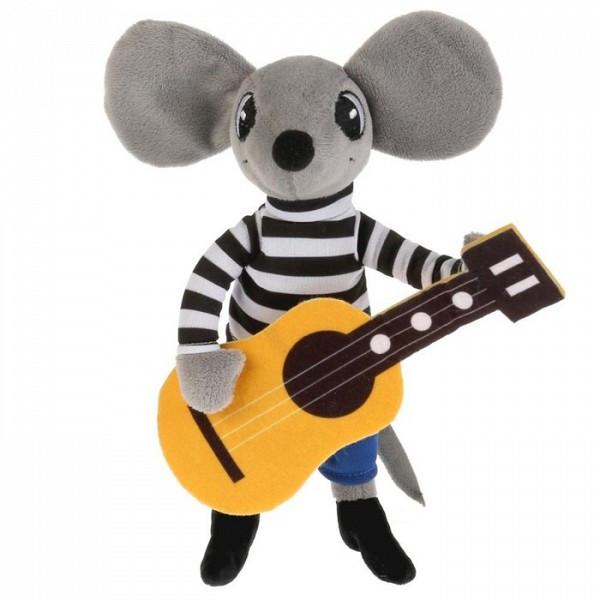 Мульти-Пульти Мягкая игрушка Мышонок с гитарой, озученная, 26 см.