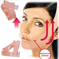 Бандаж косметический из медицинского силикона, для подтяжки овала лица, от второго подбородка