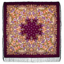 Павлопосадский платок Цветет сирень 1360-7 (146х146 см)